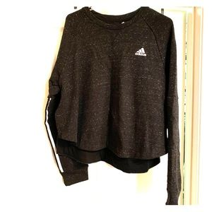 Ladies Adidas cropped sweatshirt